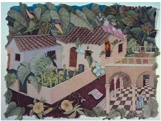 "Prayer for the Secret Garden, cp, Private Collection, 18"" x 24"""