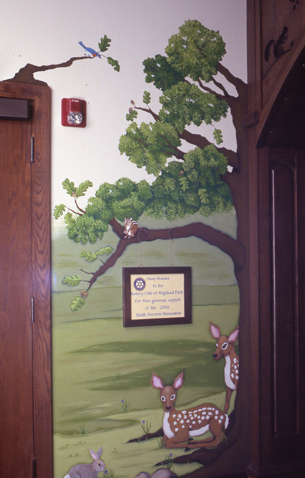 Highland Park Library Youth Services entryway, Highland Park, IL