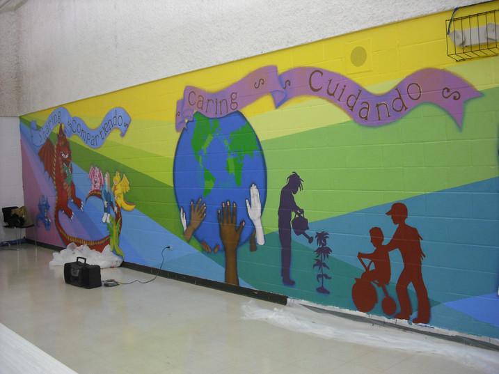 South School Mural, North Chicago IL, 8' x 65'