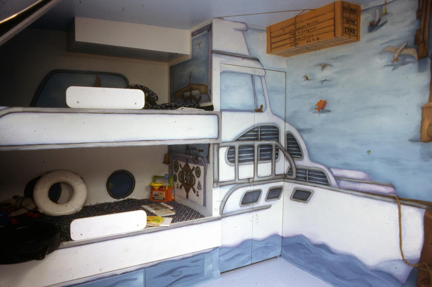 detail, children's room mural, Chicago IL