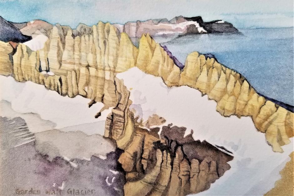 Garden Wall, (Glacier NP), watercolor