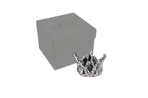 Corona argento con cristallo