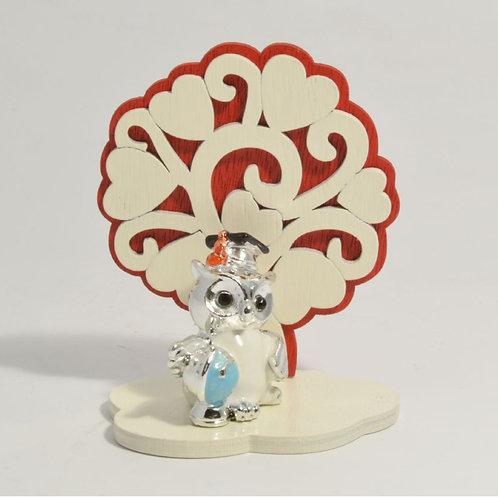 Gufetto Laurea (su base) con albero della vita