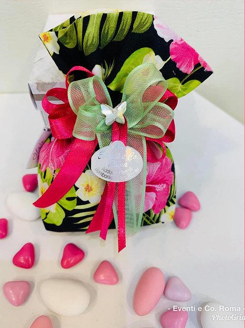 Sacchetto floreale - sfondo nero