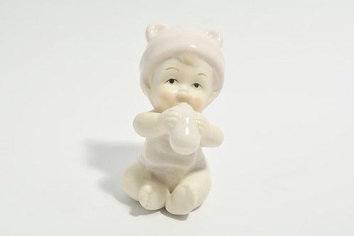 Bebè in porcellana (celeste/rosa)