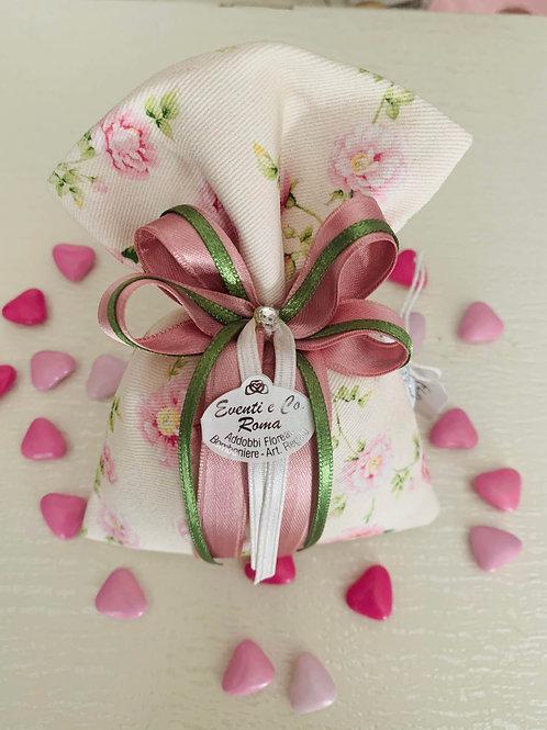 Sacchetto floreale - crema