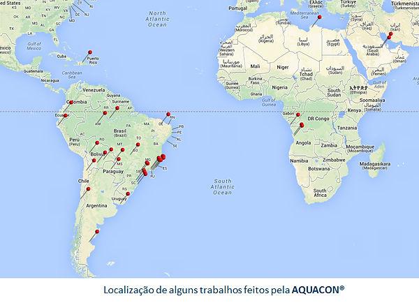 Mapa com Localidades de Alguns Trabalhos