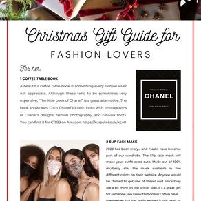 Christmas Gift Guide for Fashion Lovers