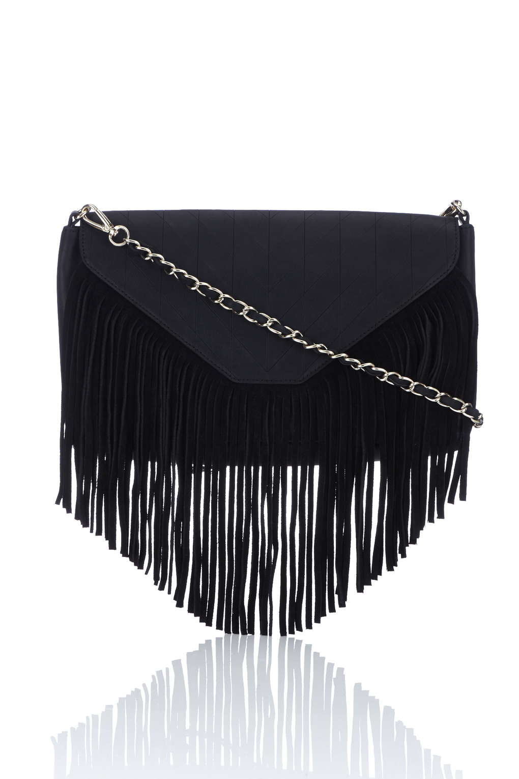 QUILT & FRINGE CROSS BODY