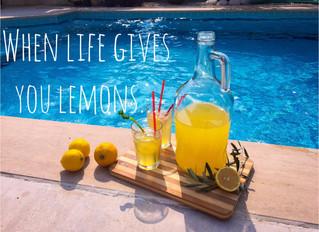 When Life Gives You Lemons - taze limonata - mit Rezept