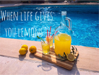When Life Gives You Lemons - taze limonata - mit Rezept