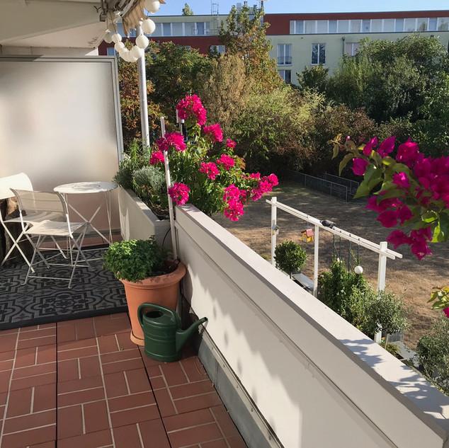 Balkon, Blick zum Garten