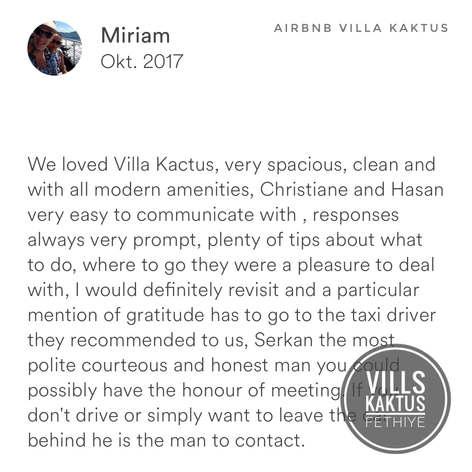 Miriam  Villa Kaktus