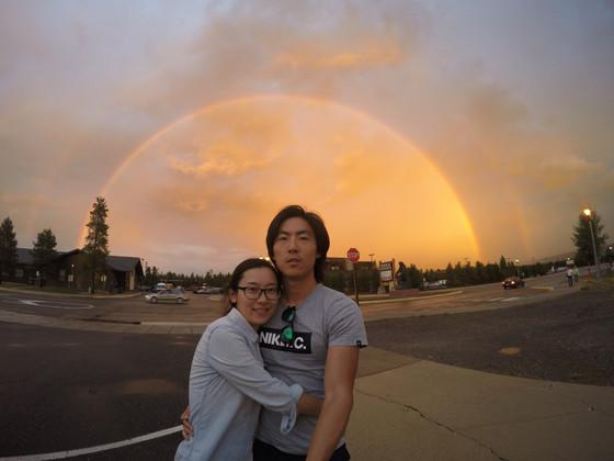 Full double rainbow @ Yellow Stone