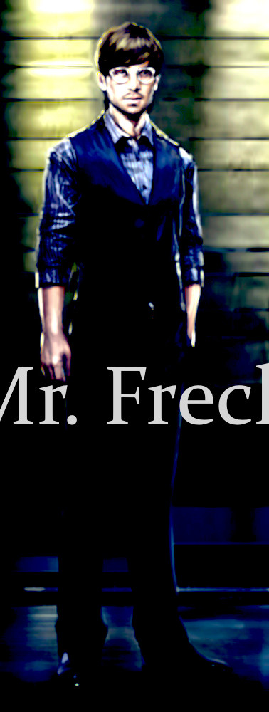 Personal proxy to Nikolas Mancuso, Mr. Aldis Freck. Boasting an I.Q of 185, Freck assists, with flawless loyalty, Manuso and his endeavors towards political agendas within the Undergrid.