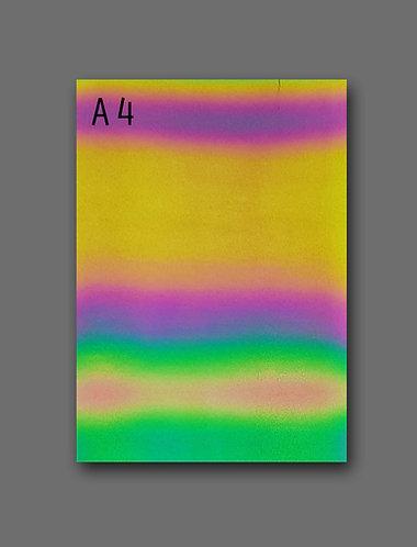 A4 sheet of Reflective Iridescent Heat Transfer Film - Iron on