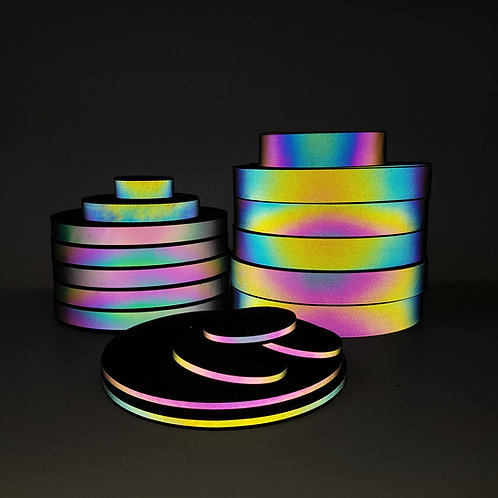Iridescent Reflective Grosgrain tape