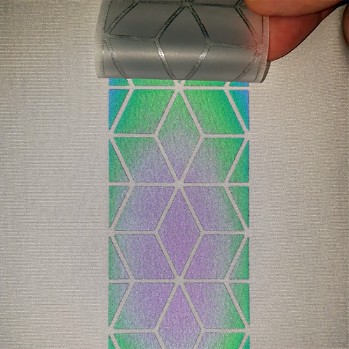Rainbow Reflective Iron-on Heat transfer film tape - Geometric Star