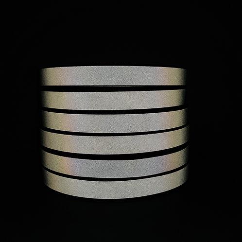 Silver Reflective Grosgrain tape 25mm