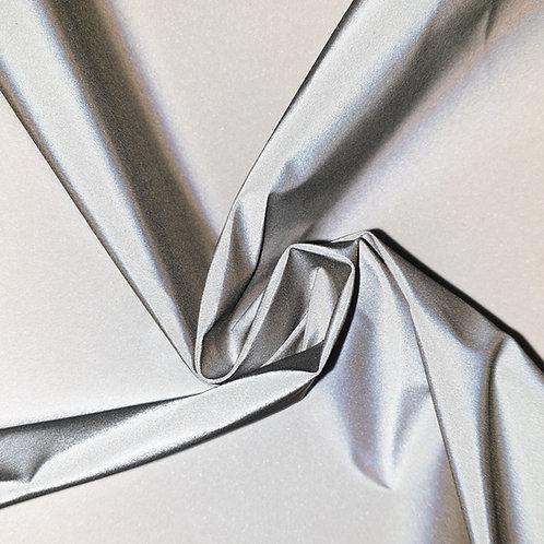 SILVER reflective Cotton-Rich WOVEN fabric