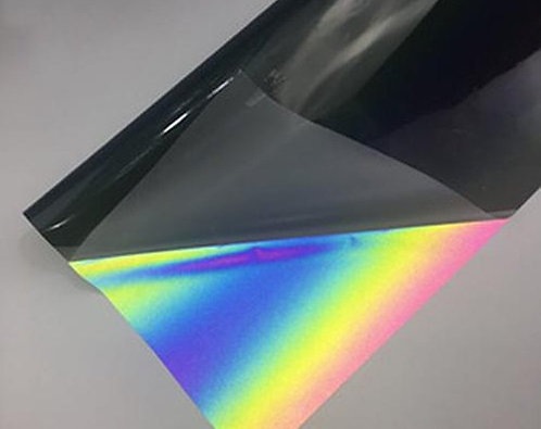 Reflective Iridescent Heat Transfer Film - Iron on