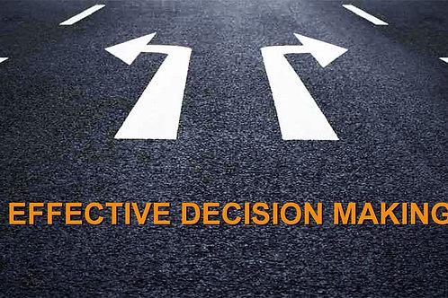 October 2021 - Effective Decision Making Strategies