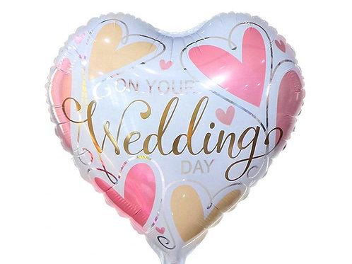בלון מיילר לב מודפס Wedding