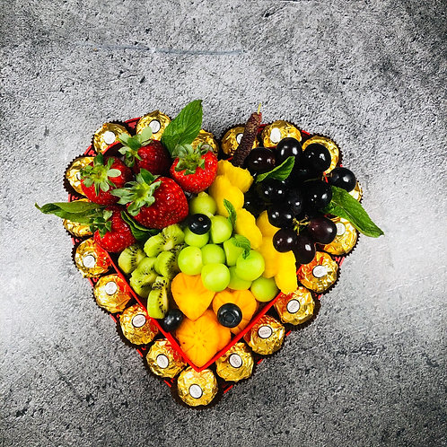 מגש לב הפירות
