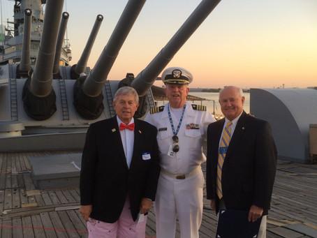 Lions Celebrate 75th Anniversary on the Battleship NJ