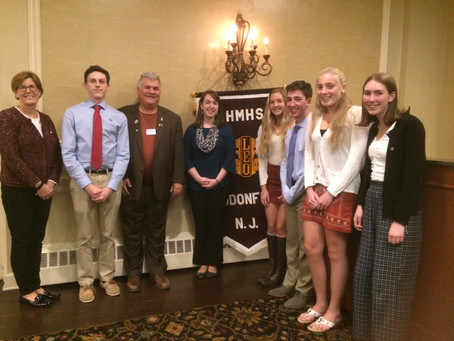 HMHS Leo Club Officers thanked for their hard work!