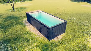 Piscine container hors sol by Rubick's Boxes