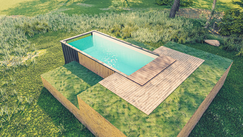 Piscine Container Belgique by Rubick's Boxes
