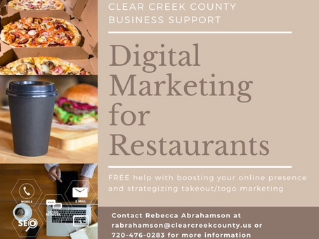 Clear Creek County offers digital marketing support for local restaurants