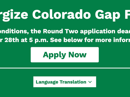 Energize CO GAP Fund Grant/Loan Deadline Extended to Oct. 28, 5 pm