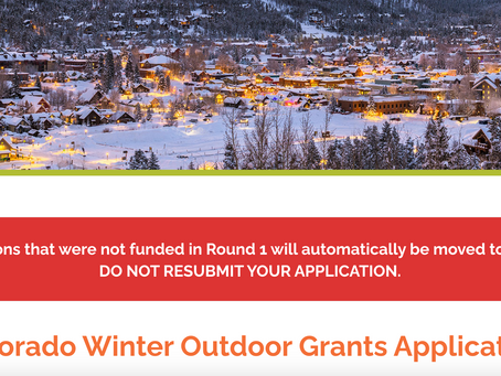 Round Two of the CO Outdoor Winter Dining Grant Program due December 11