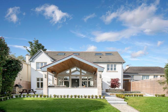 Rear Garden view - new project in Castleknock, Dublin