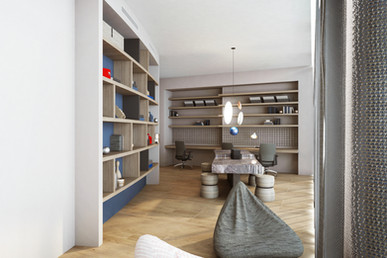 Residential house mediatheque