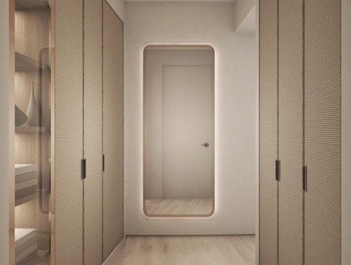 Residential house wardrobe