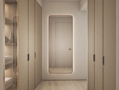 Residential house wardrobe