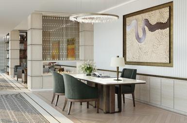 Moscow residential development lobby