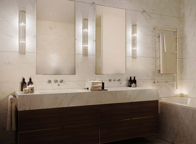 Moscow residential development master bathroom