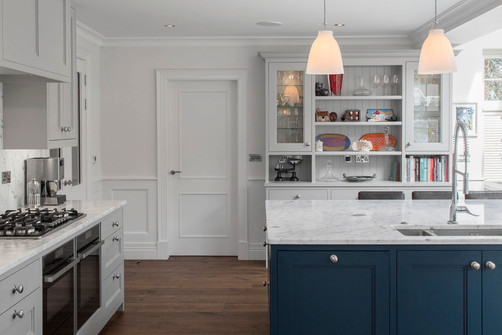 Castleknock house kitchen joinery with island