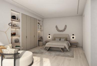 Residential house bedroom suite