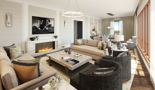 Moscow residential development living room