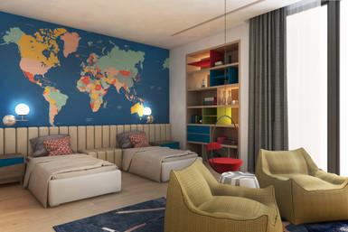 Residential house kids room