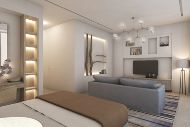 Residential house bedroom suite joinery