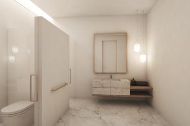 Residential house bathroom