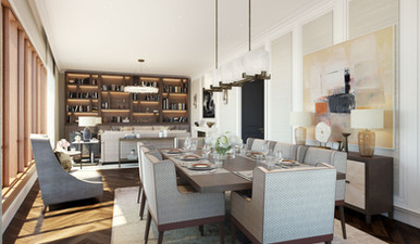 Moscow residential development dining room