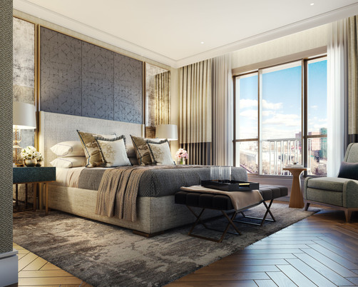 Moscow residential development master bedroom