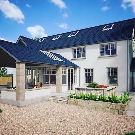 Rear Garden view - new project in Castleknock, Dublin CGI design development